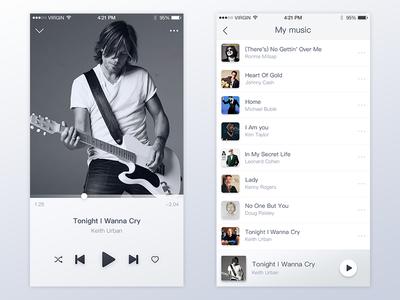 Simple music interface