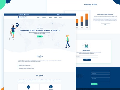 Global investment company Landing page