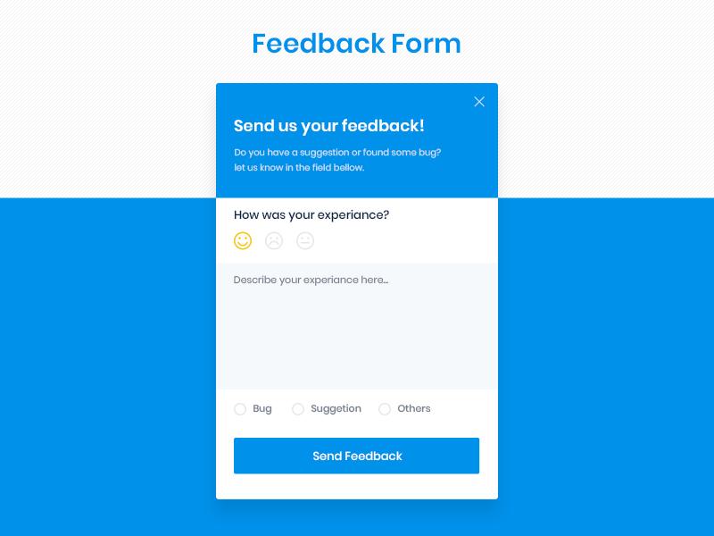 Feedback Form | UI/UX h ui design trend ui ux form feedback form feedback