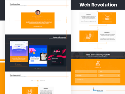 Web Revolution | Design and Development Company landing page