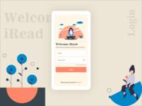iRead | Login screen