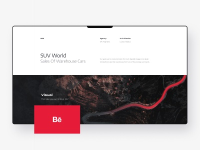 SUV WORLD - Sales of storage SUV cars heroimage landingpage layout clean modern simple webdesign cars