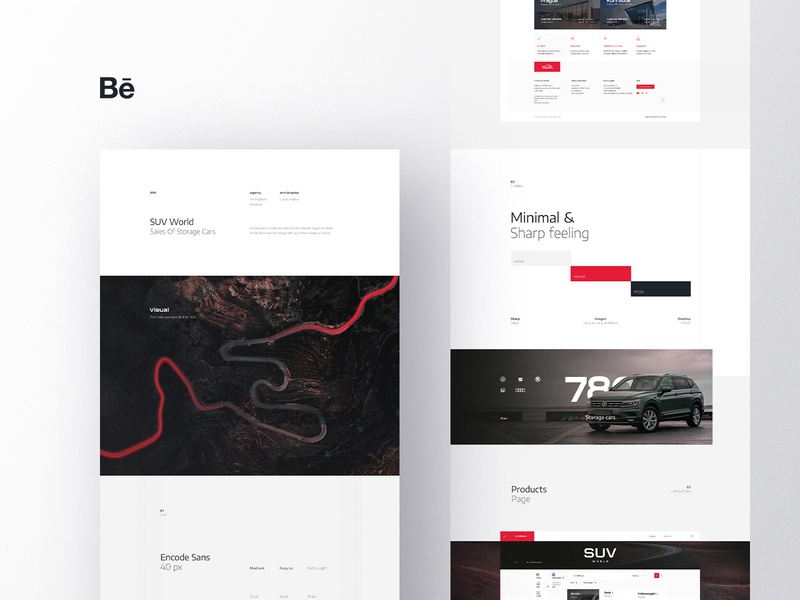 Behance Case Study - SUV World typography ui ux web branding simple clean modern hero image landing page case study behance design cars