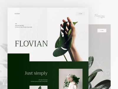 🌻 ux ui minimalist simple flower hero image landing page