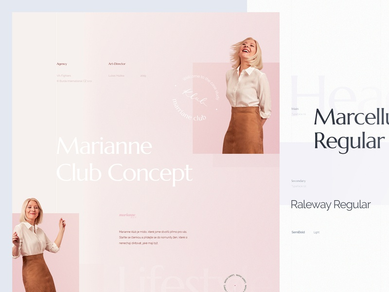 Behance Case Study - Marianne Lifestyle Blog