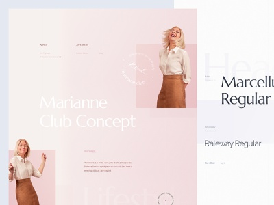 Behance Case Study - Marianne Lifestyle Blog design casestudy behance webdesign ui  ux minimalism clean simple lifestyle fashion
