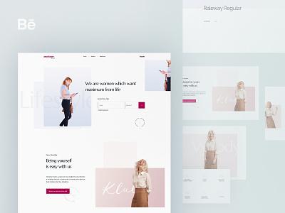 Marianne Lifestyle Blog - Behance Study graphic design minimal easy simple webdesign lifestyle blog behance