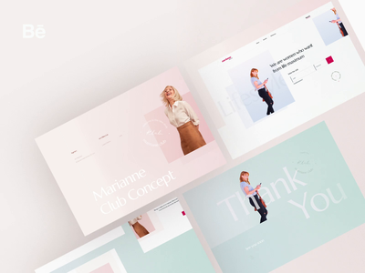 Marianne Lifestyle Blog - Behance Study minim modern simple webdesign blog lifestyle