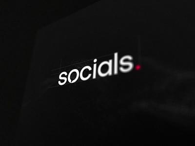 Socials. Agency Logotype logotype simple branding vector animation logo