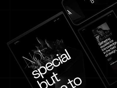 Portfolio Design brand design animation typography dark portfolio