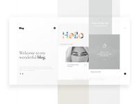 UI / UX Personal Blog