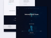 Crown Team Page design