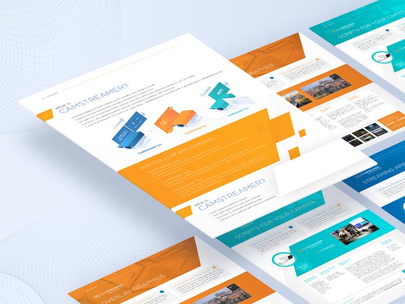 Company Flyer print design camera flyer