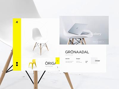 Fürtniture Shöp minimalism simple chair design ux ui animation landing page eshop