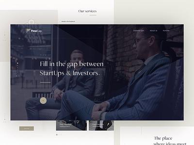 FlowCap - Landing Page financial simple luxury animation landing page design web ux ui