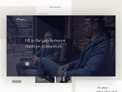 FlowCap - Landing Page financial simple luxury animation landing page design web ux ui