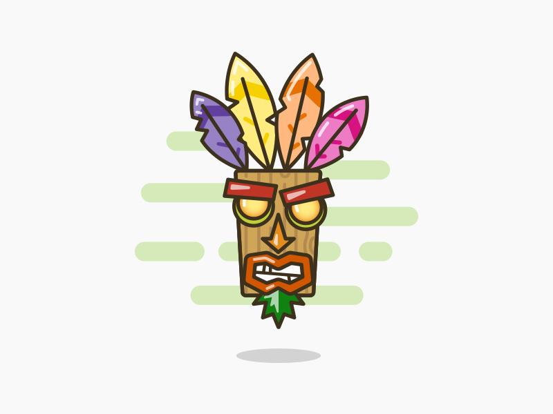 Aku Aku from Crash Bandicoot ! illustration illustrator vector video game crash bandicoot aku aku