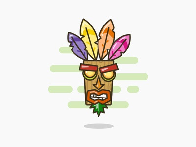 Aku Aku from Crash Bandicoot !