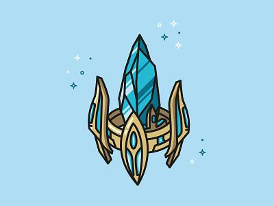 Pylon - Starcraft 2 video game vector illustrator illustration starcraft pylon