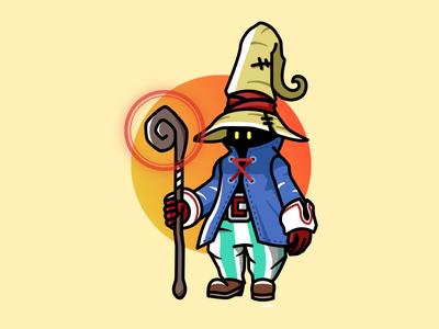 Vivi - Final Fantasy IX video games vector illustrator illustration ffix ff9 final fantasy bibi vivi