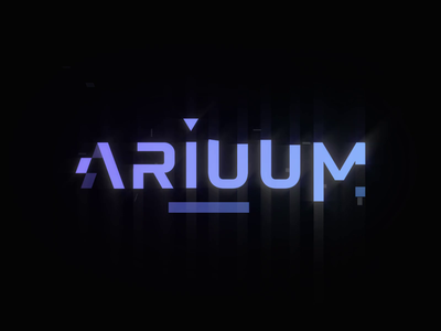 Ariuum - Logo Animation typogaphy glow glitch motion graphics motion design motion logo animation logo branding reveal logo reveal intro animated logo brand animation animation alexgoo after effects ae 2d animation 2d