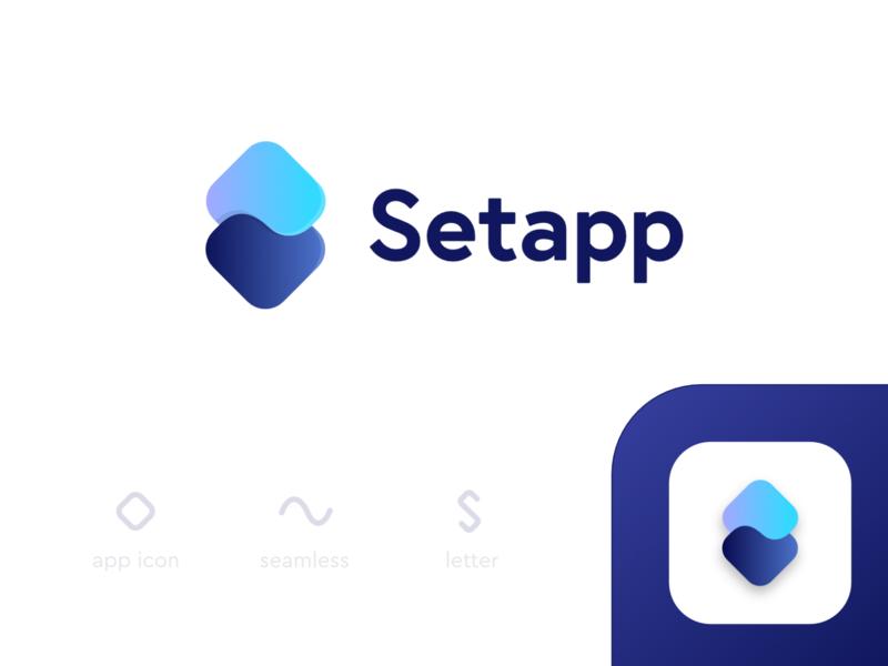 Setapp - Logo Concept concept redesign concept sine affinity designer design lettermark identity smooth wave rectangles gradient typogaphy s letter app icon logo branding alexgoo