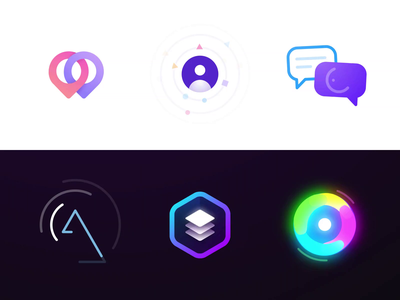 Logo Animation Collection Vol. 2 loop collection pre-loader icon animation motion graphics motion design motion logo animation logo branding reveal logo reveal intro animated logo brand animation animation alexgoo after effects 2d animation 2d