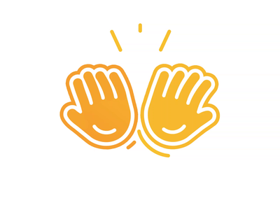 Hi Five - Logo Animation hands seamless loop hi 5 pre-loader icon animation motion graphics motion design motion logo animation branding reveal logo reveal intro animated logo brand animation animation alexgoo after effects 2d animation 2d