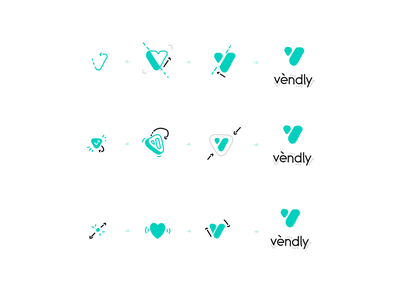 Vendly - Logo Animation typography animation boom heart pre-loader icon animation motion graphics motion design logo animation logo branding reveal logo reveal intro animated logo brand animation animation alexgoo after effects 2d animation 2d