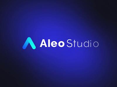Aleo Studio - Logo Reveal animated typography gradient pre-loader icon animation motion graphics motion design motion logo animation logo reveal logo reveal intro animated logo brand animation animation alexgoo after effects ae 2d animation 2d