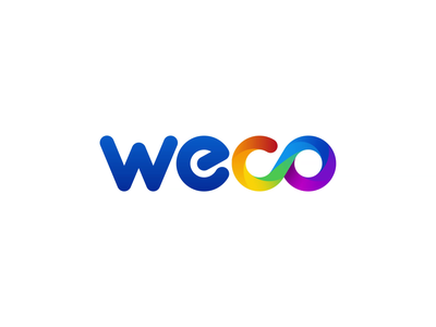 WeCo - Logo animation after effects colorful typography brand animation explosion gradient 2d animation power button alexgoo logo intro logo reveal animated logo logo animation pre-loader