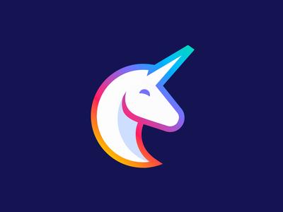 Unicorn Logo Animation gradient branding brand ae motion graphics motion design animation logo animation logo after effects gif motion 2d alexgoo design icon unicorn magic magical 2danimation