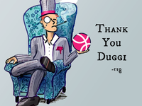 a dribbble debut due to duggi's drafting