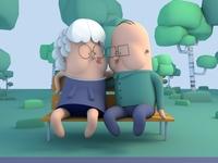 Old lovebirds