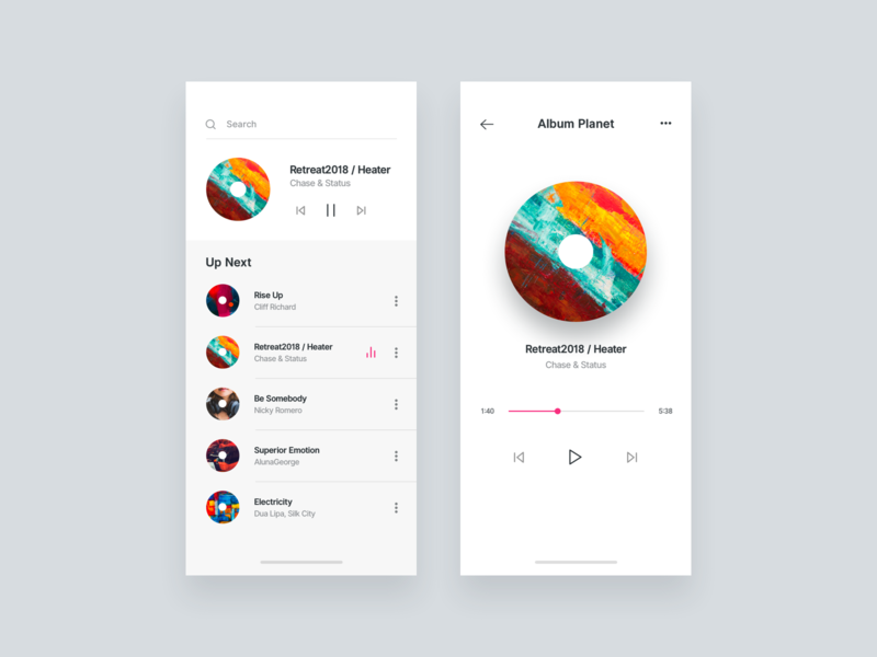 Music Player audioplayer music player ui iphone x mobileapp music player music design app ux ui
