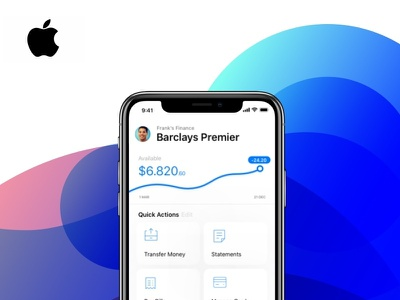 Apple Finance - Concept - Shot no. 1 money account bank banking fintech finance product design mobile ux ui apple