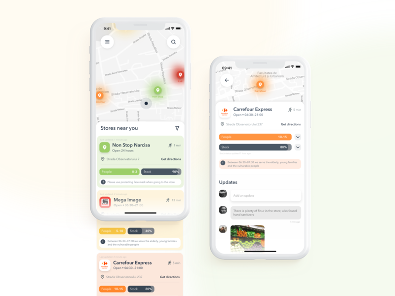 Heat Map App for Grocery Stores