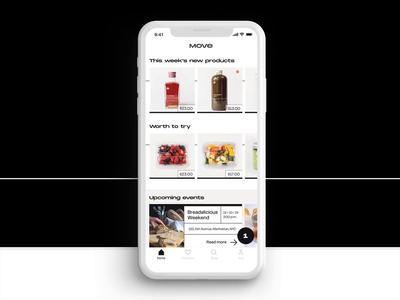 Move - Ordering App Concept