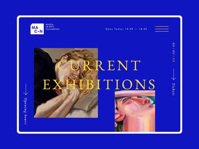 Museum of Art Cluj-Napoca website redesign concept