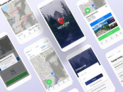 Tatra.Life Mobile App ux design ui ios mobile app mobile ui aplication mobile