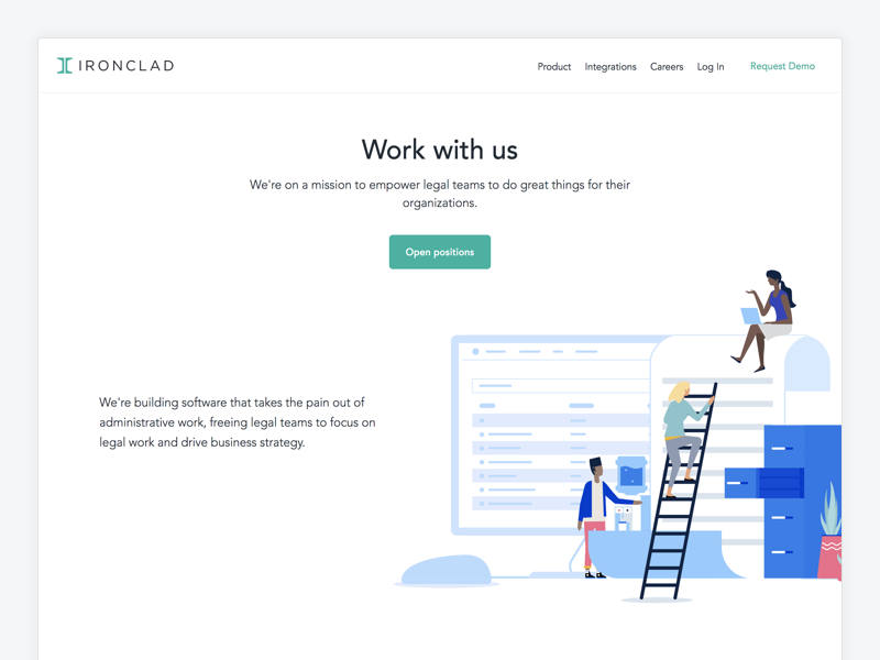 Careers page dribbble