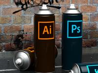 PS & AI Spraycan