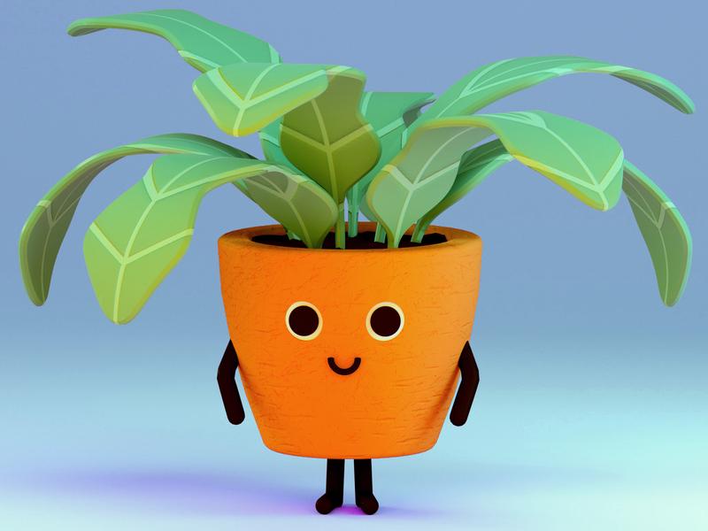 Mr Plant plant character octanerender render cinema4d octane c4d 3d