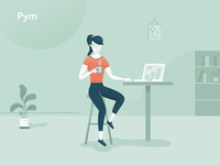Customer service character - online marketing