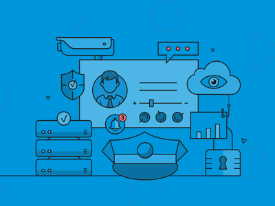 Header image data security and privacy protection camera server lock cloud illustration compliance governance data security protection privacy gdpr