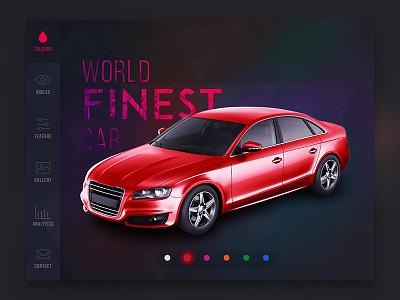Interactive Catalog uiux ipad interactive icons concept colour catalog car app