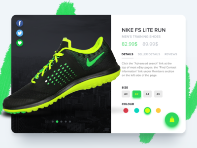 Product Page ux ui shopping shop product interface fashion e-commerce design cart