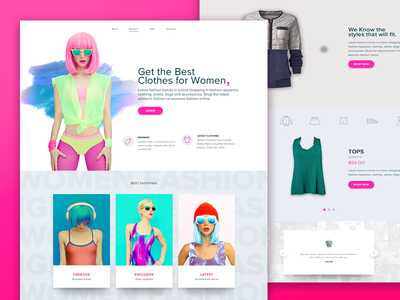 Shopping website web ux ui shopping interaction design