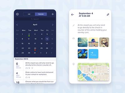 Calendar app design flat layouts app calendar ux ui