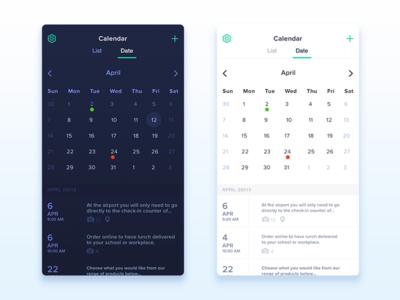 Calendar app new version colour design flat layouts app calendar ux ui